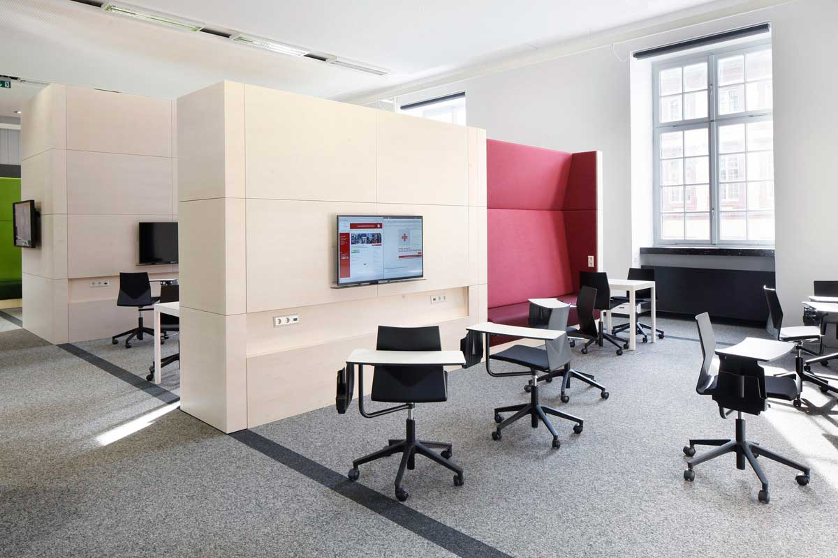 ub mannheim learning center ukw innenarchitekten. Black Bedroom Furniture Sets. Home Design Ideas